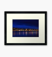 Night on the river Framed Print