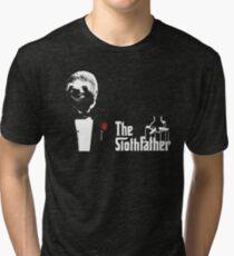 Sloth - The Slothfather godfather parody mashup Tri-blend T-Shirt