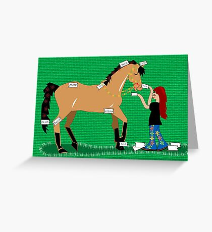Points of the Pony Greeting Card