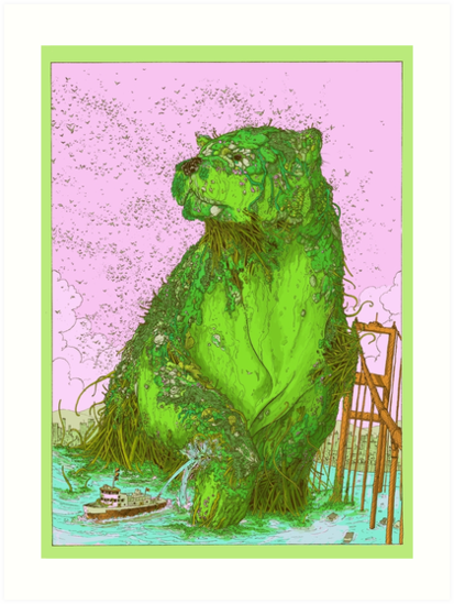 GREEN ALGAE BEAR by Ulises Farinas