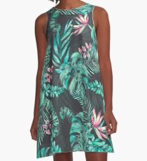 Tropical Leave pattern 2 A-Line Dress
