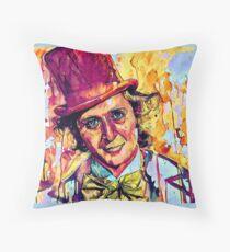 Willy Wonka - Gene Wilder Throw Pillow