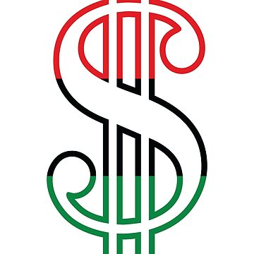 Red, Black & Green Dollar Sign by forgottentongue