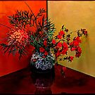 Still life with Grevillea banksii and Azalea by andreisky