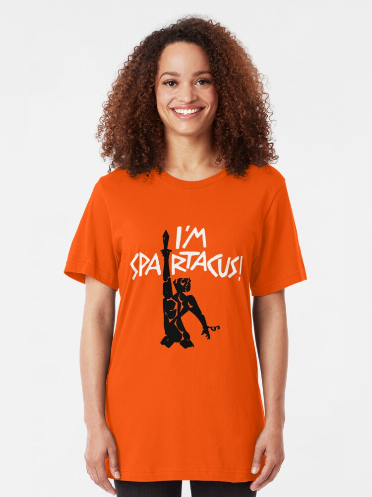 Alternate view of I'm Spartacus! Slim Fit T-Shirt