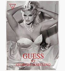 anna nicole smith guess ad gown Poster