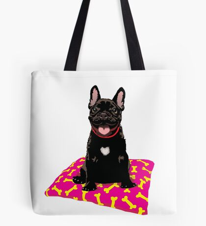 I heart frenchies Tote Bag
