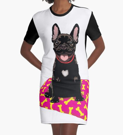 I heart frenchies Graphic T-Shirt Dress