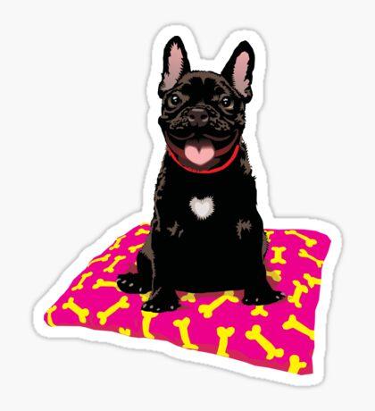 I heart frenchies Sticker