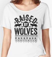 Raised By Wolves {Black + White} Women's Relaxed Fit T-Shirt