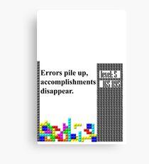 tetris philosophy Canvas Print