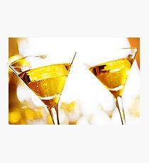 Celebration. Two champagne glasses. Photographic Print