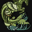 selkie, kelpie. hippocampus, sea horse by resonanteye