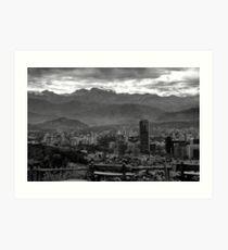 Santiago de Chile Art Print