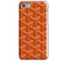 Goyard case orange iPhone Case/Skin