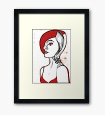 Vampire woman with tattoo Framed Print