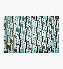 Business Building Windows Abstract Detail Photographic Print