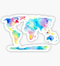 The Places We'll Go - Watercolor World Map Sticker