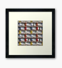 colorful facade Framed Print