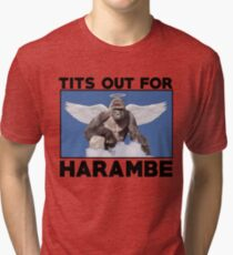 Tits out for HARAMBE   Tri-blend T-Shirt