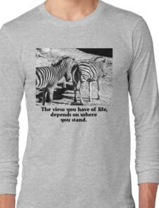 Zebra In A Bad Location Long Sleeve T-Shirt