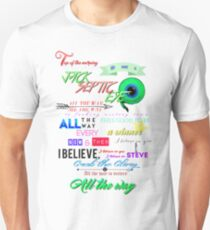 All the Way Jacksepticeye lyrics Unisex T-Shirt