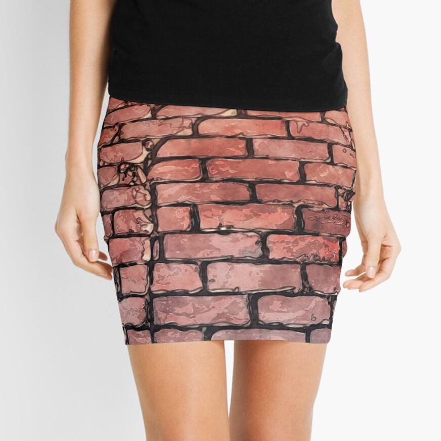 Vintage Brick Street Mini Skirt