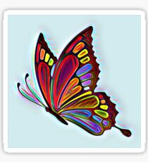 Colorful Abstract Butterfly Art Sticker