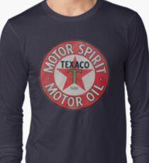 Vintage Texaco Motor Spirit Logo  Long Sleeve T-Shirt