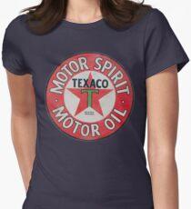 Vintage Texaco Motor Spirit Logo  Women's Fitted T-Shirt