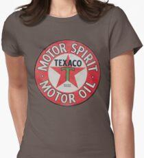 Vintage Texaco Motor Spirit Logo  Womens Fitted T-Shirt