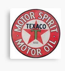 Vintage Texaco Motor Spirit Logo  Canvas Print