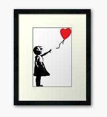 ballon en forme de coeur Impression encadrée