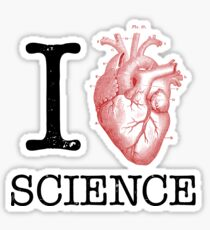 I Love Heart Science - Biology Sticker