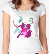 Ralts Kirlia Gardevoir Gallade Evolution Women's Fitted Scoop T-Shirt