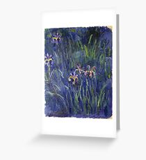 Claude Monet - Irises 2 1917 Greeting Card