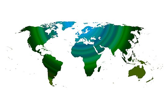 Green world map by adiosmillet