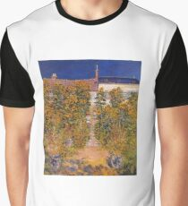 Claude Monet - The Artist S Garden At Vetheuil Graphic T-Shirt