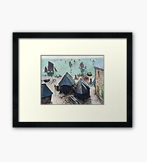 Claude Monet - The Departure Of The Boats Etretat Framed Print