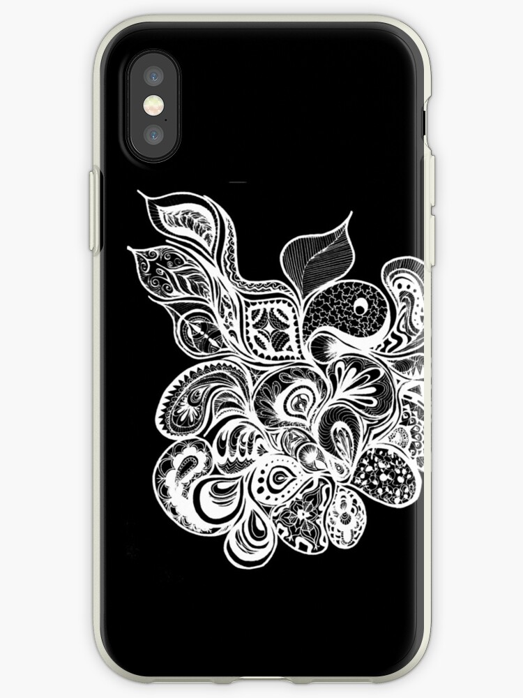 online store a6386 80731 'Black and White Henna Design ' iPhone Case by Maddiegeddes