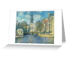 Claude Monet - Zuiderkerk In Amsterdam Greeting Card