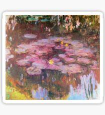 Claude Monet - Water Lilies 1917 6 Sticker