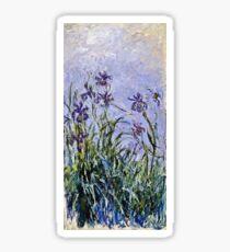 Claude Monet - Iris Mauves  Sticker