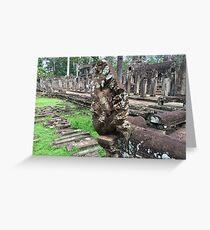 Cambodia - Siem Reap - Naga statuary Greeting Card