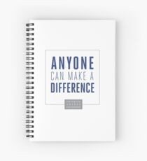 Anyone Can Make a Difference Spiral Notebook