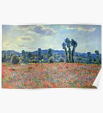 Claude Monet - Poppy Field In Giverny 03 Poster