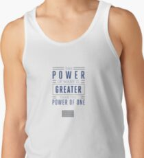 The Power of Many is Greater than the Power of One- Belief Statement Tank Top