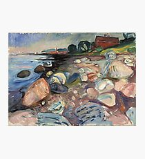 Edvard Munch - Shore With Red House Photographic Print