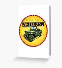 Willys Wartime Jeep 1941~1945 Greeting Card