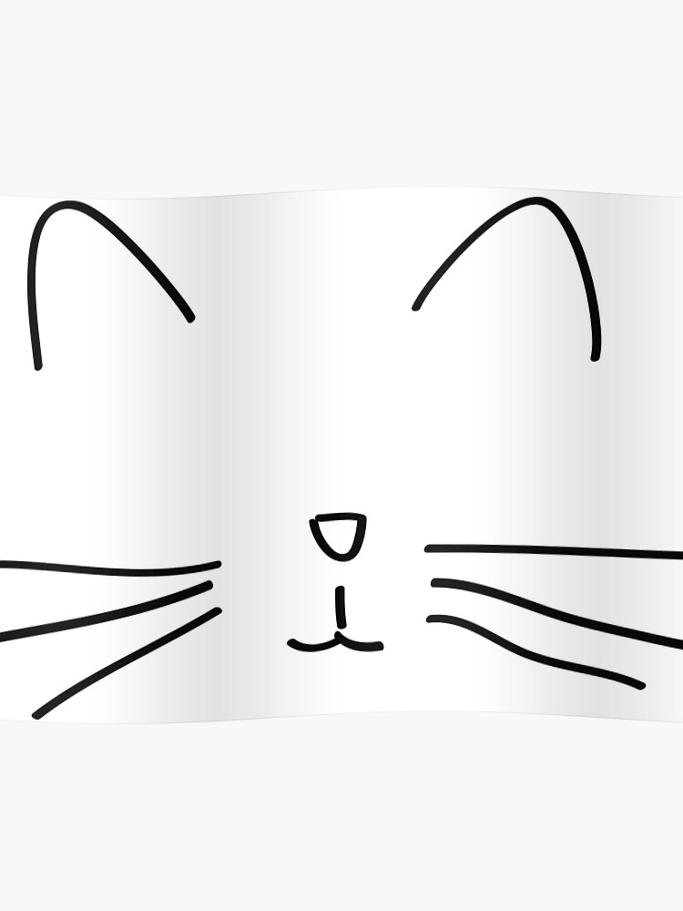 Chat Simple Drawing Tumblr Poster By Cecilemtx Redbubble